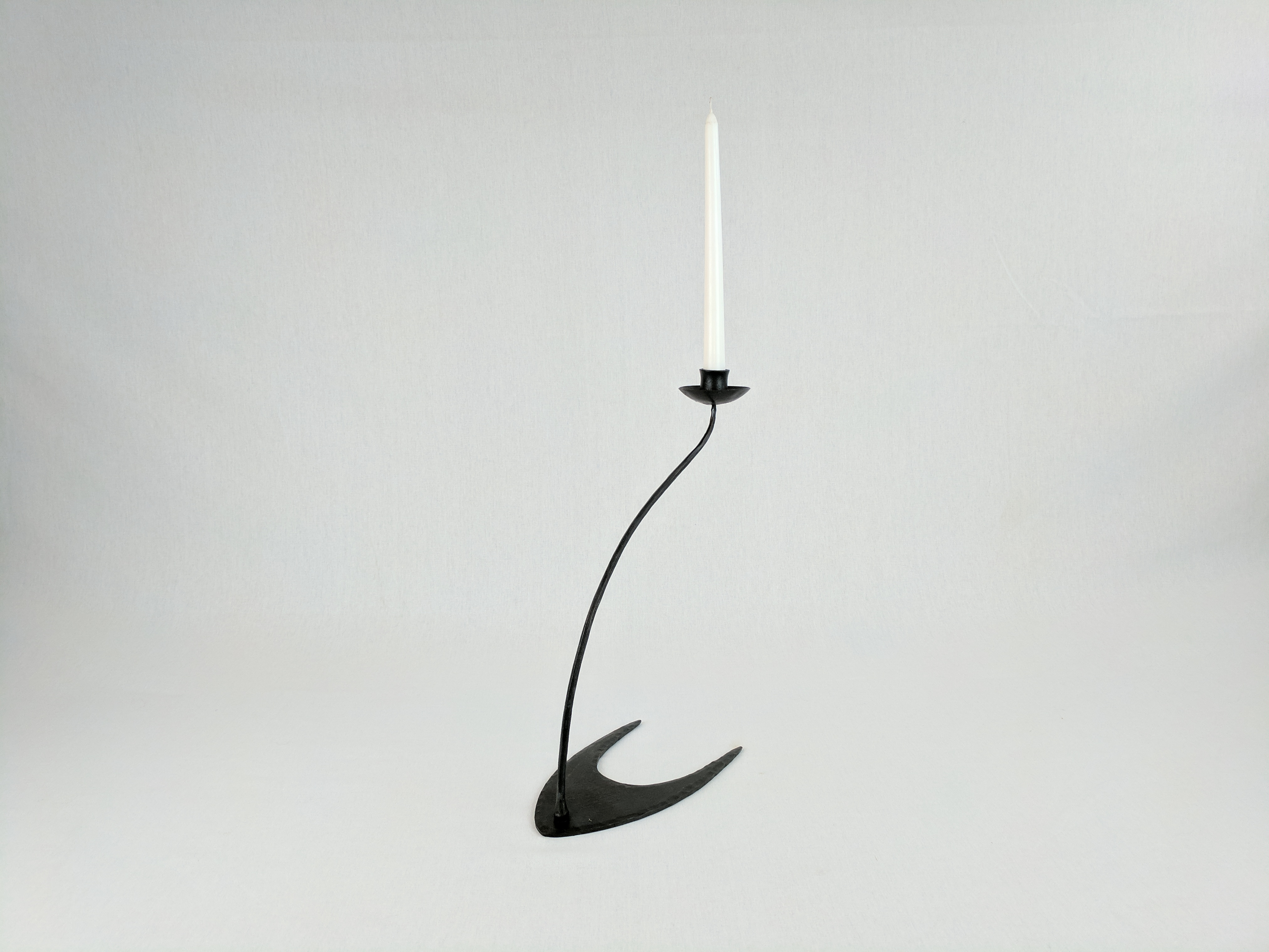Slimline forged candlestick